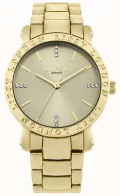 Lipsy Damska złota tarcza, zegarek ze złotej bransoletki LP566