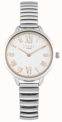 Lipsy Damski zegarek z możliwością rozbudowy srebrnej bransoletki LP578