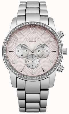 Lipsy Damska różowa tarcza zegarka srebrnego zegarka LP562
