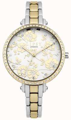 Lipsy Damski dwubarwny kwiatowy zegarek LP568