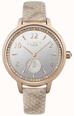 Lipsy różowo-złoty pasek i zegarek LP582