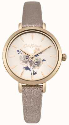 Cath Kidston Womens island bunch metaliczny zegarek z różowego złota CKL049RG