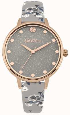 Cath Kidston Damski zegarek w kolorze glittery wiązki szary CKL056ERG
