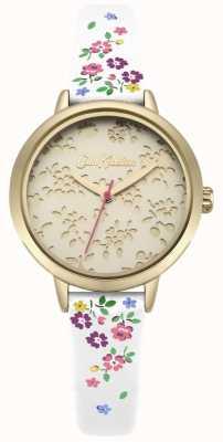 Cath Kidston Damska laserowo wycinana biała patka do zegarka Highgate Ditsy CKL055WG