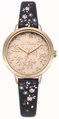 Cath Kidston Damski zegarek kieszonkowy z laserowo wyciętym paskiem highgate ditsy CKL055URG