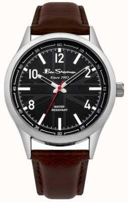 Ben Sherman Męski zegarek z brązowym łańcuszkiem BS002BBR