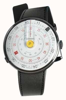 Klokers Klok 01 żółty zegarek czarny satynowy pojedynczy pasek KLOK-01-D1+KLINK-01-MC1