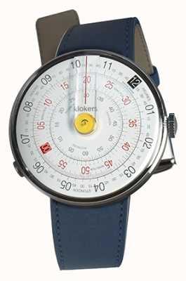 Klokers Klok 01 żółta głowa zegarka indygo niebieski pojedynczy pasek KLOK-01-D1+KLINK-01-MC3