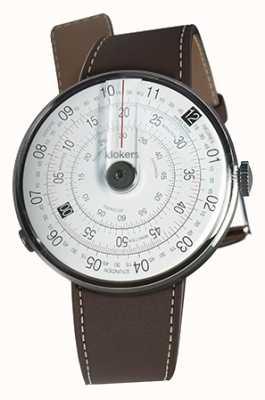 Klokers Klok 01 czarna głowa zegarka w kolorze czekoladowego brązu KLOK-01-D2+KLINK-01-MC4