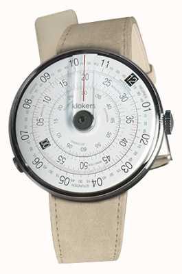 Klokers Klok 01 czarny zegarek szary alcantara pojedynczy pasek KLOK-01-D2+KLINK-01-MC6