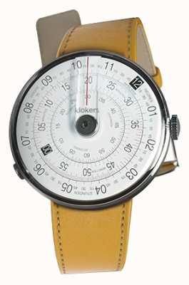 Klokers Klok 01 czarny zegarek głowa newport żółty pojedynczy pasek KLOK-01-D2+KLINK-01-MC7.1