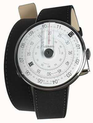 Klokers Klok 01 czarna matowa głowica zegarka czarna podwójna opaska 380mm KLOK-01-D2+KLINK-02-380C2