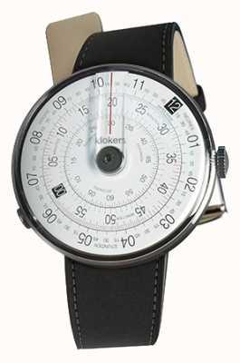 Klokers Klok 01 czarna matowa głowica zegarka czarny podwójny pasek KLOK-01-D2+KLINK-02-380C2