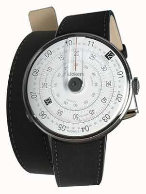 Klokers Klok 01 czarna matowa głowica zegarka czarna podwójna taśma 420mm KLOK-01-D2+KLINK-02-420C2