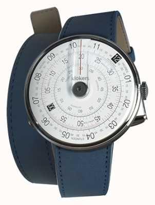 Klokers Klok 01 czarna głowa zegarka indygo niebieski 420mm podwójny pasek KLOK-01-D2+KLINK-02-420C3