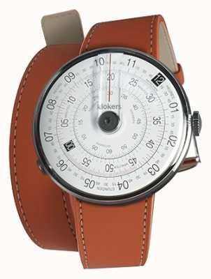 Klokers Klok 01 czarna głowa zegarka pomarańczowy 420mm podwójny pasek KLOK-01-D2+KLINK-02-420C8