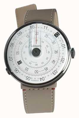 Klokers Klok 01 czarny zegarek głowy grege cieśniny pojedynczy pasek KLOK-01-D2+KLINK-04-LC9