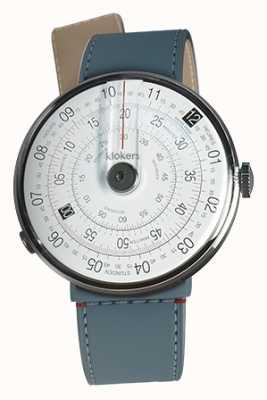 Klokers Klok 01 czarna głowa zegarka niebieska jean cieśnina pojedynczy pasek KLOK-01-D2+KLINK-04-LC10