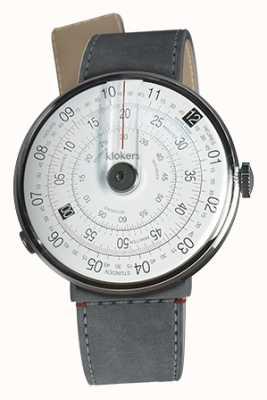 Klokers Klok 01 czarny zegarek szary alcantara cieśnina pojedynczy pasek KLOK-01-D2+KLINK-04-LC11