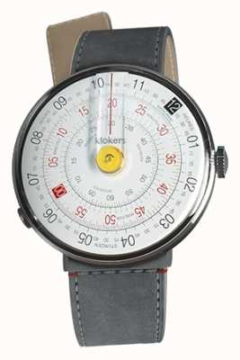Klokers Klok 01 żółta głowica zegarka szara alcantara cieśnina pojedynczy pasek KLOK-01-D1+KLINK-04-LC11