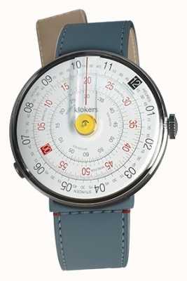 Klokers Klok 01 żółta głowica zegarka niebieska cieśnina dżinsowa pojedynczy pasek KLOK-01-D1+KLINK-04-LC10