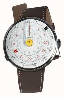 Klokers Klok 01 żółta głowica zegarka w kolorze brązowo-brązowym KLOK-01-D1+KLINK-01-MC4