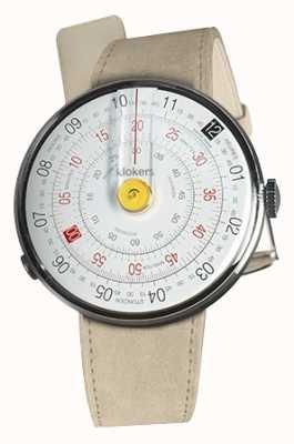 Klokers Klok 01 żółty zegarek szary alcantara pojedynczy pasek KLOK-01-D1+KLINK-01-MC6