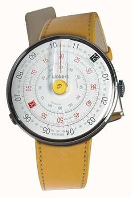 Klokers Klok 01 żółta głowica zegarka Newport żółty pojedynczy pasek KLOK-01-D1+KLINK-01-MC7.1