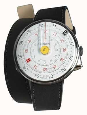 Klokers Klok 01 żółta głowica zegarka czarny podwójny pasek KLOK-01-D1+KLINK-02-380C2