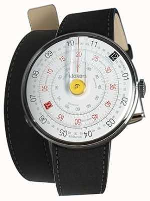 Klokers Klok 01 żółta głowica zegarka czarna podwójna taśma 420mm KLOK-01-D1+KLINK-02-420C2