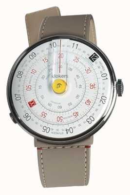 Klokers Klok 01 żółta głowica zegarka grge cieśnina pojedynczy pasek KLOK-01-D1+KLINK-04-LC9