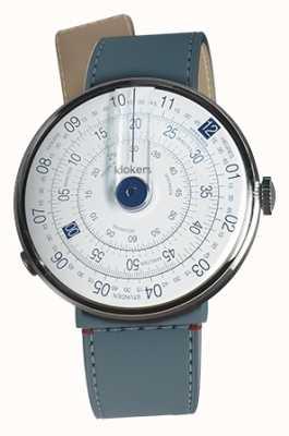 Klokers Klok 01 niebieska głowa zegarka niebieska cieśnina dżinsowa pojedynczy pasek KLOK-01-D4.1+KLINK-04-LC10