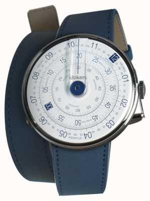 Klokers Klok 01 niebieska głowa zegarka indygo niebieski podwójny pasek KLOK-01-D4.1+KLINK-02-380C3
