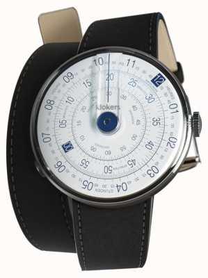 Klokers Klok 01 niebieska główka do zegarka czarna podwójna taśma 420mm KLOK-01-D4.1+KLINK-02-420C2