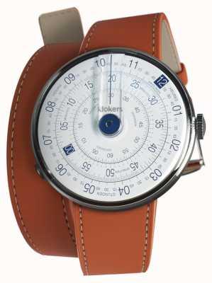 Klokers Klok 01 niebieska głowa zegarka pomarańczowy podwójny pasek 420mm KLOK-01-D4.1+KLINK-02-420C8