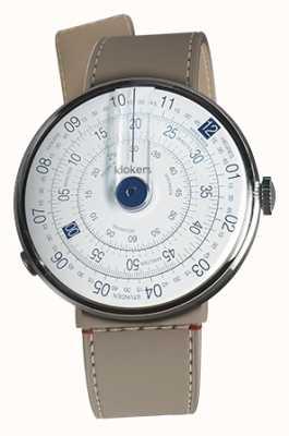 Klokers Klok 01 niebieska tarcza zegarka grege cieśnina pojedynczy pasek KLOK-01-D4.1+KLINK-04-LC9