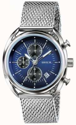 Breil Siatka z niebieskiej tarczy chronografu Beaubourg ze stali nierdzewnej TW1529
