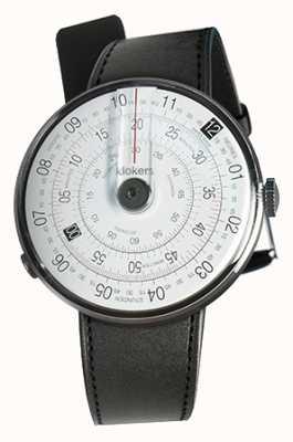Klokers Klok 01 czarny zegarek czarny satynowy pojedynczy pasek KLOK-01-D2+KLINK-01-MC1