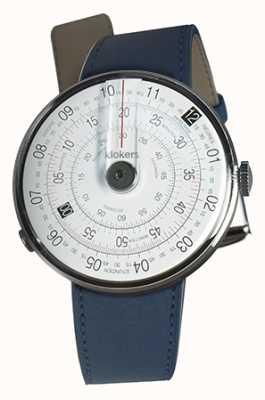 Klokers Klok 01 czarny zegarek z indygo niebieski pasek pojedynczy KLOK-01-D2+KLINK-01-MC3