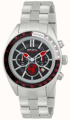 Breil Abarth ze stali nierdzewnej chronograf czarny i czerwony tarcza TW1692