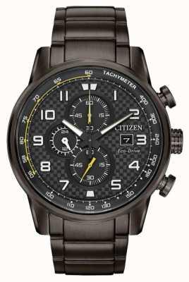 Citizen Męska sportowa chronograficzna szara bransoletka pokryta ip CA0687-58E