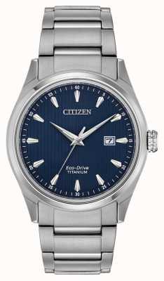 Citizen Męska niebieska tarcza ze srebrnego super titanium BM7360-82L