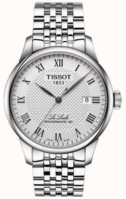 Tissot Mens le locle powermatic 80 automatyczny zegarek ze stali nierdzewnej T0064071103300