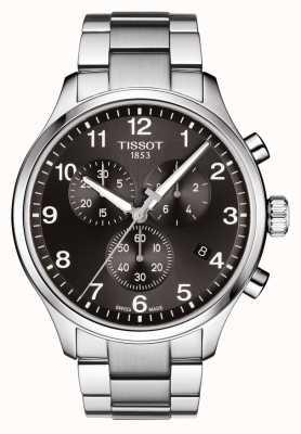 Tissot Męski chronograf xl classic czarna bransoleta ze stali szlachetnej T1166171105701