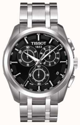 Tissot Chronograf męski couturier czarna tarcza ze stali nierdzewnej T0356171105100