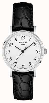 Tissot Damski za każdym razem czarny pasek ze srebrnymi cyframi arabskimi T1092101603200