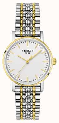 Tissot Damska za każdym razem bransoletka z dwutonową złotem T1092102203100