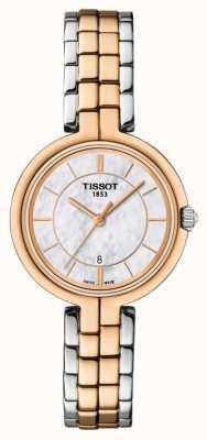 Tissot Damska bransoletka z dwukolorowego złota z pozłacanego mopa T0942102211100