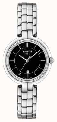Tissot Damska czarna flamingowa bransoletka ze stali nierdzewnej T0942101105100