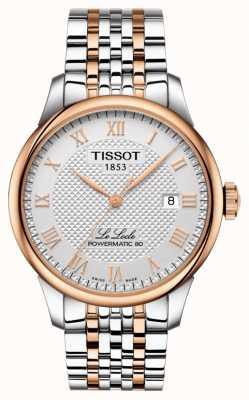 Tissot Męskie le locle powermatic 80 w dwóch odcieniach różowego złota T0064072203300